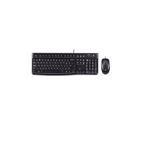 Logitech Mk120 - Wired Keyboard and Mouse - Black