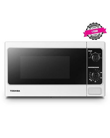 TOSHIBA MM-MM20P(WH) - 20L Manual Microwave Oven, 800W - White