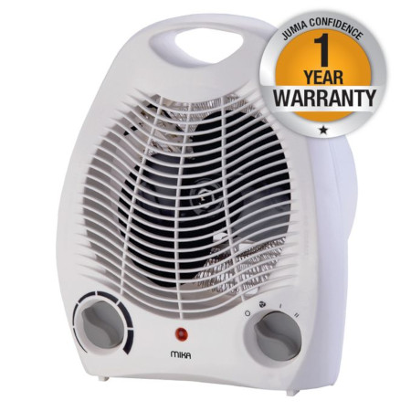 Mika Room Fan Heater- White