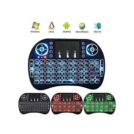 Mini Smart TV, Android Box Wireless Keypad/Remote with Mouse Touchpad, for SAMSUNG,SONY, LG, TCL, HISENSE, MOOKA, BRUHM, Rechargeable