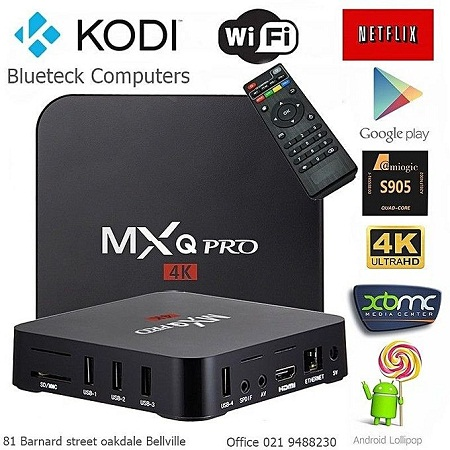 Mxq Pro 4K TV Box with Android 6.1 - WiFi - 1GB RAM - 8GB ROM - UK PLUG