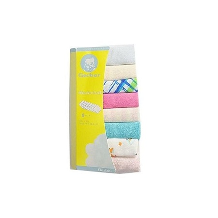 8 Pieces Baby Infant Newborn Washcloth - Assorted