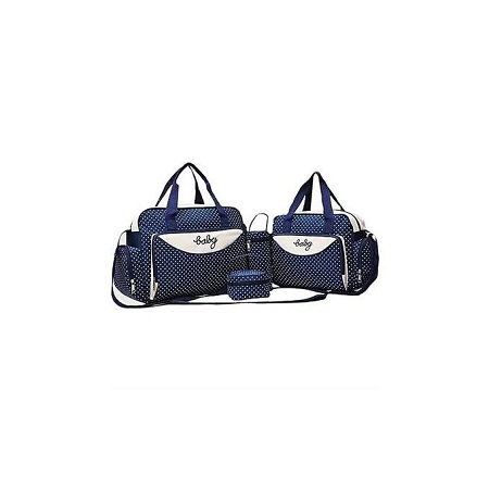 Babies Collection 5 in 1 Baby Diaper Bag - Navy Blue