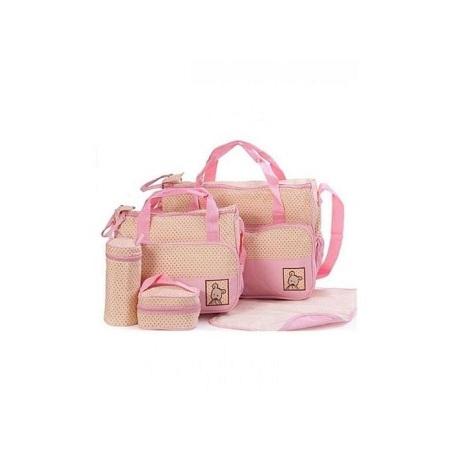 Bear Club Shoulder Diaper Bag, Multi Pockets Waterproof