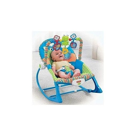 Fisher Price Infant to Toddler Rocker/Bouncers Big size( 0+ months) - Blue.