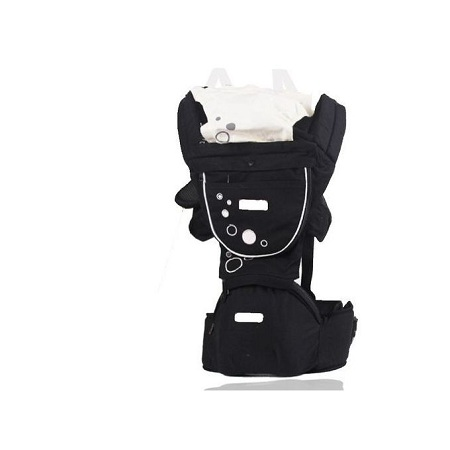 Imama Breathable Hipseat Baby Carrier - Black