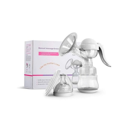 Healthy Manual Breast Pump Plus Free Baby Bottle Cap