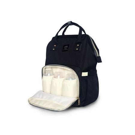 Portable Baby Backpack Diaper Bag for Travel - Black