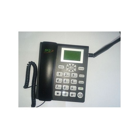 SQ Gsm Phone For Office and Home with Dual SIM Slot FM Radio-Black