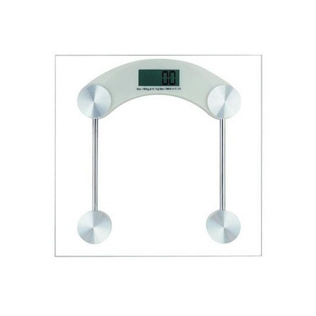 Sterling Tempered glass platform 180KG Digital LCD Electronic Bathroom Scale Glass Weighing Scale - Measures in Stones / KG / Lbs Electronic Digital Bathroom Body Weight Management Scale