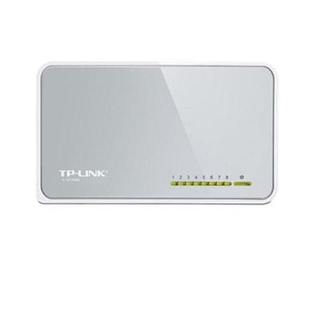 TP-Link TL-SF1008D - 8-Port - 10/100Mbps - Desktop Switch - White