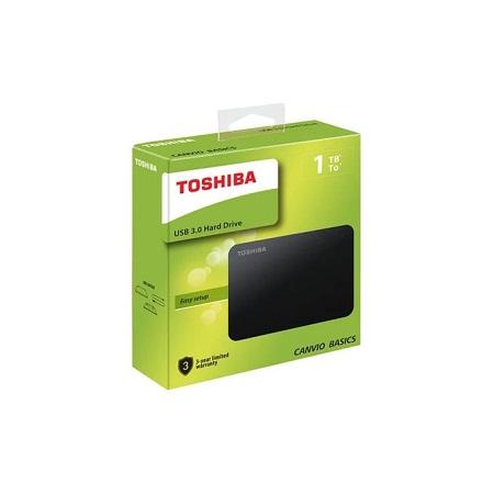 Toshiba 1TB, Canvio Basics USB 3.0, Portable External Hard Drive 1TB - Black