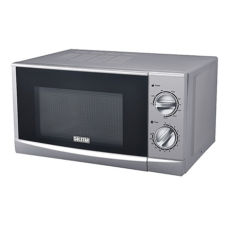 Solstar MWO20G-N9GSLB SS - SOLSTAR Microwave Oven 20Lts, Mechanical + Grill - Silver