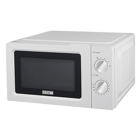 Solstar MWO20G-V1WHB SS - SOLSTAR Microwave Oven 20Lts, Mechanical - White