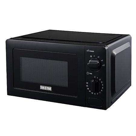 Solstar MWO20G-V5BKB SS - SOLSTAR Microwave Oven 20Lts, Mechanical - Black