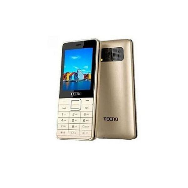 Tecno T301 Dual Sim - Gold With Memory Card Slot Upto 32 GB