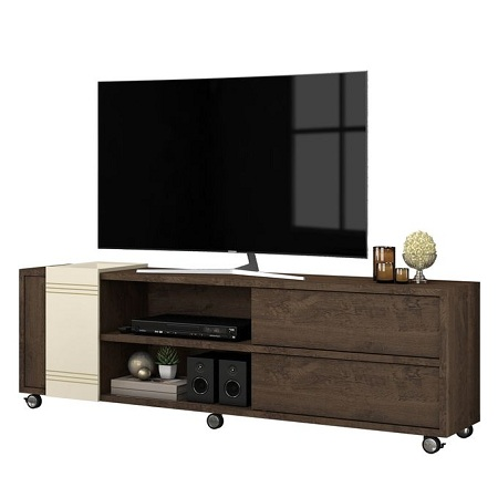 Belaflex TV Stand Bancada Brown Off-White For Upto 75 Inch TV