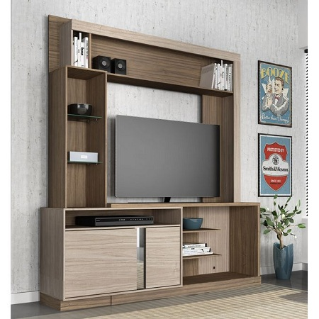 Colibri Wall Unit Rack Orion - Walnut - For Upto 50 Inch TV