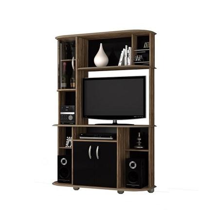 DJ Moveis TV WALL UNIT LISBOA - For Upto 40 Inch TV - Oak Vittro / Black