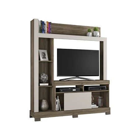 Notavel Entertainment / Wall Unit Bela NT1025 - TV space up to 43 Inch - CINNAMON/SAND