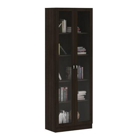 Tecno Mobili BOOK SHELF WITH 2 GLASS DOORS - TOBACCO