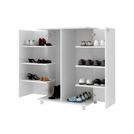 Tecno Mobili SHOE RACK W/ 02 DOORS - White BP