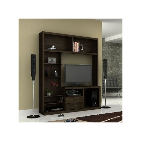 Tecno Mobili ENTERTAINMENT WALL UNIT For Up To 50 Inch TV - TABACCO