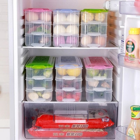 3 layers storage containers