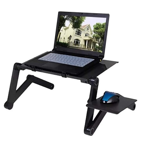 Adjustable Laptop stand with mouse pad and fan