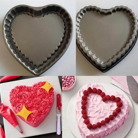 Love shaped non stic bake tin