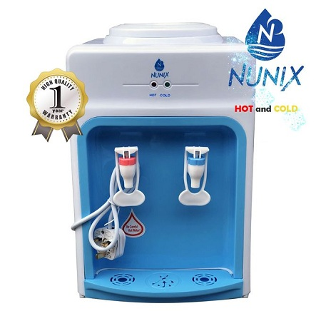 Nunix Hot And Cold Water Dispenser Table Top K3 Blue