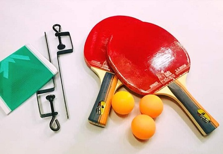 Racket set with a net
