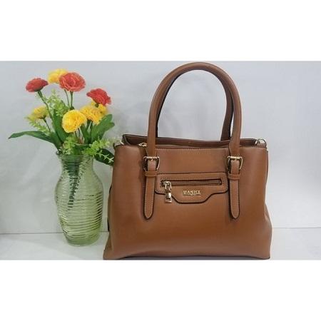 Bronze PU Leather Hand Bag