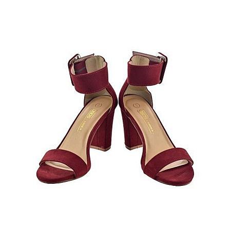 Fashion Wine Red Elegant Chunky Heels