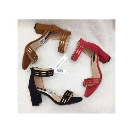 Fashion Chunky Ladies Heels - Suede Heels.