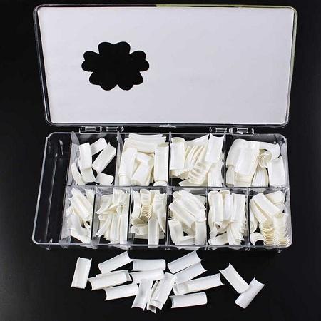 Fashion 500 Pcs Nail Tips Natural French Acrylic Artificial Nails