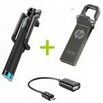 Selfie Stick + Free OTG Cable & 32 GB Flash Disk