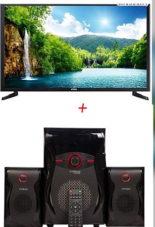32 Inch Vitron LED Digital Tv +  Vitron V604 Subwoofer