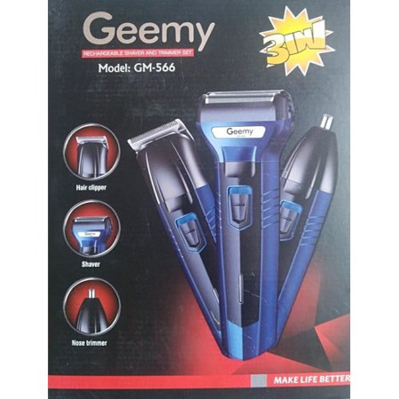 Geemy Rechargeable Hair Shaving Machine, Shaver- 3 In 1