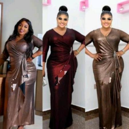 Fashion Ladies Black Maxi Dinner Gown