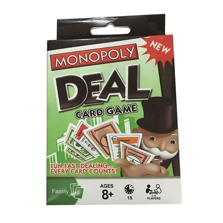 Monopoly Deal Card Game Table Board Games Dealing Property