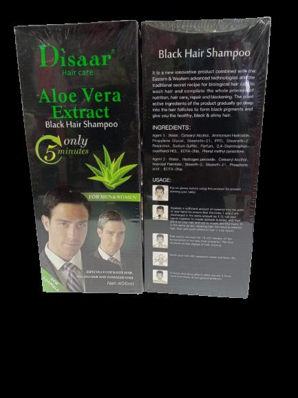 Disaar Hair Care Aloe Vera Extract Black Hair Shampoo 400ml