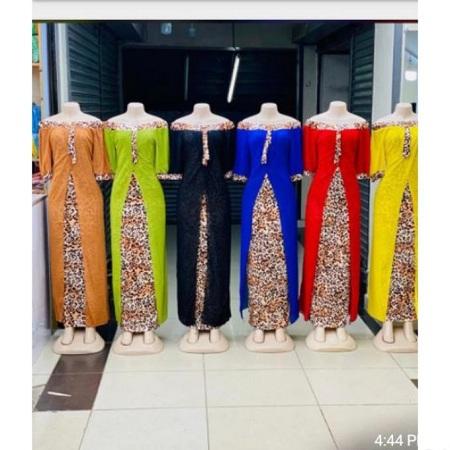 Fashion Offshoulder Yellow Maxi Animal Print Dress