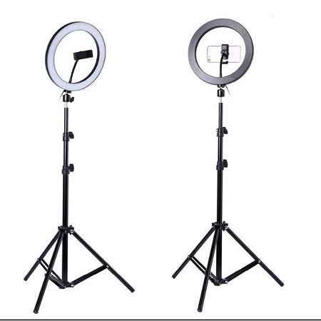 Generic 10 Inch Led Ring Light + 2.1m Tripod Stand Free