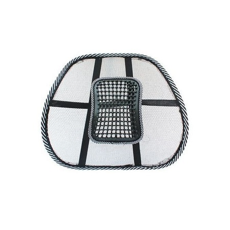 Generic Chair Massage Back Lumbar Support Mesh Ventilate Cushion Pad Car Office Seat