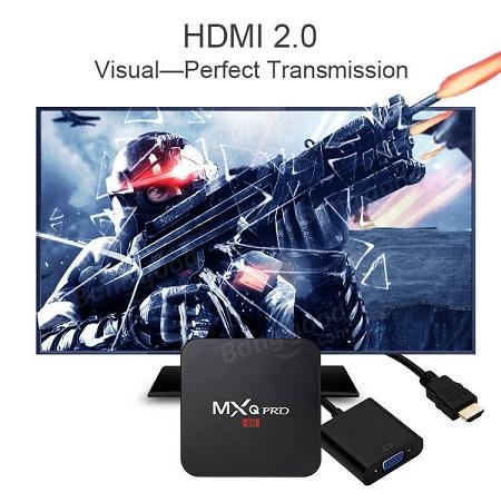 Mxq Pro Smart 4K Android TV Box Plus Free 32GB SD Card