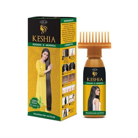 Keshia Roghan-e-moringa Organic Hair Oil 120ml