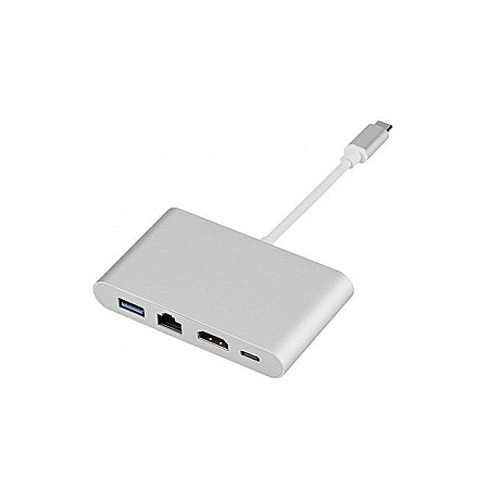 Type C Hub Type-C To HDMI RJ45 Type-C USB 3.0 Fast