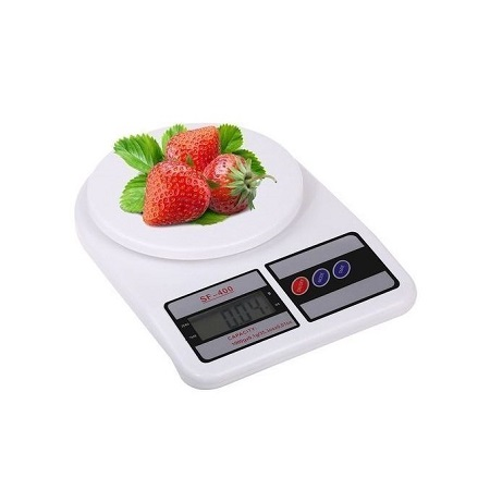 Multifunction Electronic Kitchen And Nutrition Digital Food Scale (10kg X 1g) White