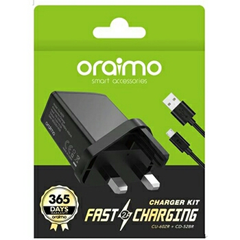 Oraimo 3pin 2A Fast Charger